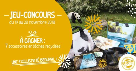 Beauval recycle ses bâches publicitaires ! - ZooParc de Beauval