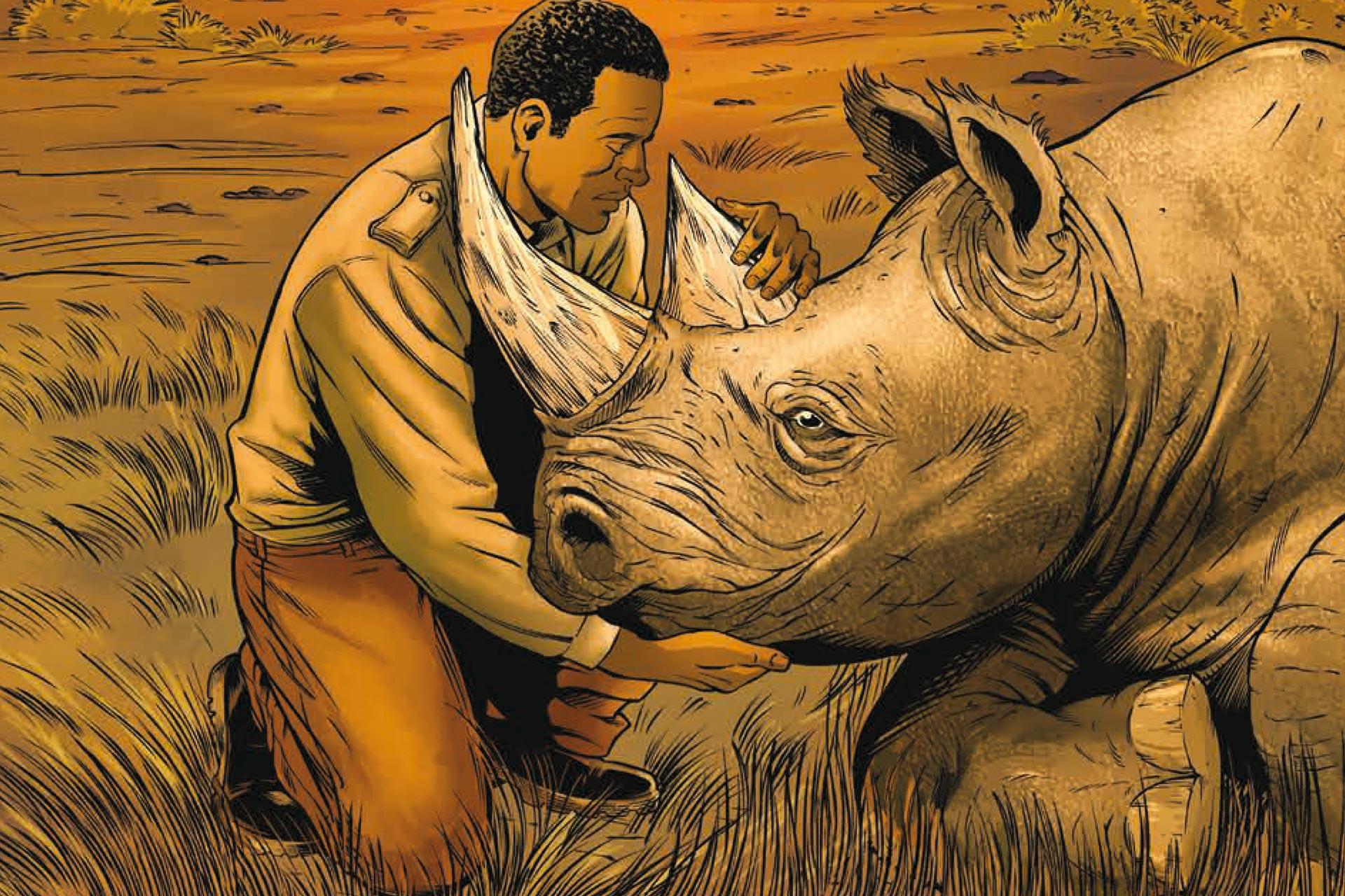 Coloriage En Ligne Rhinoceros.Les Adieux Du Rhinoceros Une Bd Afdpz Beauval Actus